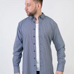 Рубашка мужская nobel league 44 синий с белым (f01-230083)