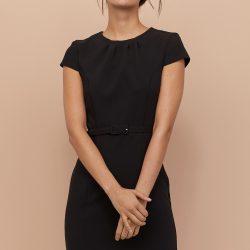 Платье h&m 81608315 38 черный (2000000897080)