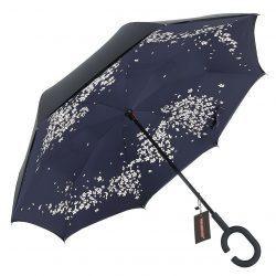 Зонт женский up-brella сакура темно-синий (2907-9212)