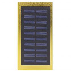 Внешний аккумулятор power bank solar water cube 8000 mah портативная солнечная батарея gold (258-10391)
