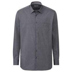 Рубашка мужская nobel league 44 темно-серый (f01-230088)