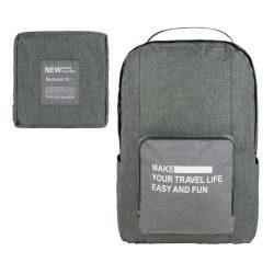 Рюкзак городской складной travel 44х30х14 см серый (23296)