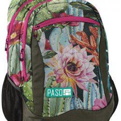 Рюкзак женский paso зеленый (18-2808lo)