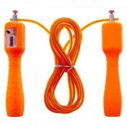 Скакалка со счетчиком и стальным тросом fi-4385 orange (us00231)