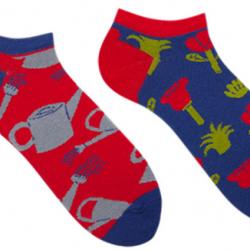 Короткие мужские носки sammy icon jardin short 40-46 красно-синие (009549)