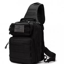 Большая нагрудная сумка tactical d14 черный