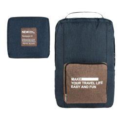 Рюкзак городской складной travel 44х30х14 см черный (23300)