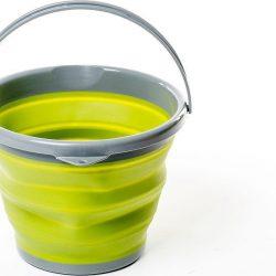 Ведро складное силиконовое tramp 10л trc-091 оливковый (gr_008773)
