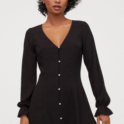 Платье h&m 84561415 38 черный (2000000903187)