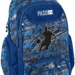 Рюкзак молодежный paso синий (18-2908bb16)