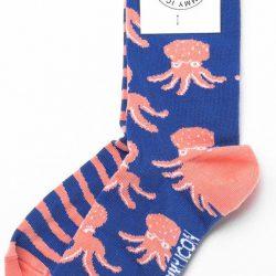 Носки мужские с принтом sammy icon octo 40-46 сине-кремовые (009059)