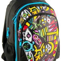 Рюкзак paso с абстракцией 21 л черный (bdd-367)