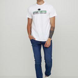 Мужская футболка gildan с рисунком белая (1313332-м)