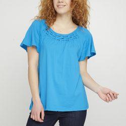Женская футболка mark l голубая (8033196-l)
