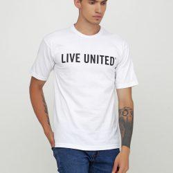Мужская футболка с рисунком bayside м белая (1313534-м)