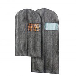 Набор чехлов для одежды (2 шт) kleidersacke  серый-белый k10-110933