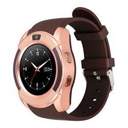 Смарт-часы uwatch v8 коричневые