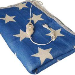 Простыня с подогревом electric blanket 7418 150х120 см, синяя с белым