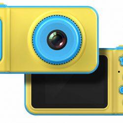 Детский цифровой фотоаппарат ukc smart kids camera желто-голубой