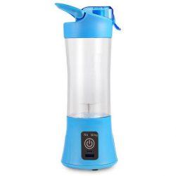 Портативный блендер smart usb juice life с аккумулятором blue (sm-274)