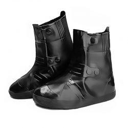 Резиновые бахилы на обувь от дождя lesko sb-108 xxxl черный