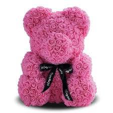 Мишка из роз trend-mix 25 см розовый (tdx0000719)