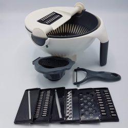 Мультислайсер – овощерезка wet basket vegetable cutter 9 в 1 белый (ri0736)