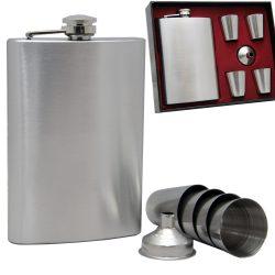 Набор фляга с рюмками gtі 300 мл 6 предметов серебристый (hbp145534)