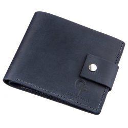 Мужское портмоне в винтажном стиле grande pelle 11231 синее