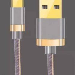 Кабель type c – usb для быстрой зарядки 2.4a 1 м серый (hub_tdim13836)