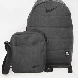 Комплект twix рюкзак + барсетка nike темный меланж (1587631134)