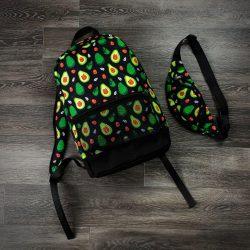 Комплект рюкзак intruder авокадо + бананка черный (1597918119)