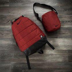 Комплект twix рюкзак + барсетка intruder nike красный меланж (1/ 1593005291)