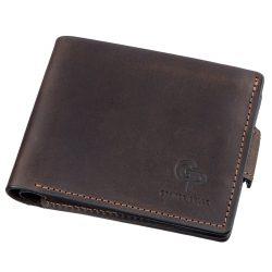 Горизонтальное портмоне унисекс grande pelle 11218 коричневое