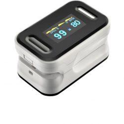 Пульсоксиметр на палец oyk-81c для изменения пульса и сатурации крови pulse oximeter white (mas40389)