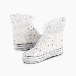 Резиновые бахилы на обувь от дождя lesko sb-102 s цветочки