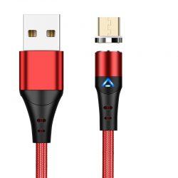 Магнитный кабель для быстрой зарядки и передачи данных greenport m12a3 1m 3.0a для microusb red (m12a39)